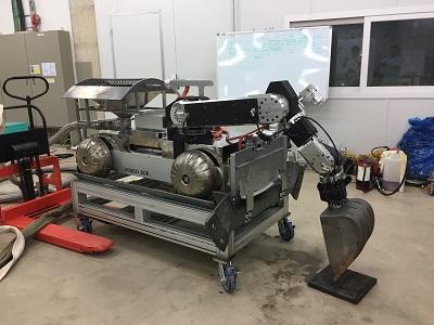 유동환원로 가스덕트 청소로봇(극한환경용 모바일로봇)