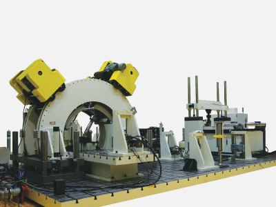 Multi-Axes Test Bench for Railway System